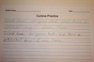 More cursive practice!