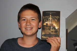 Brendan is starting the Kingdom Series by Chuck Black for his independent reading: