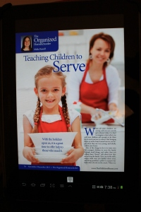 I appreciate the focus on training our kids to serve others!