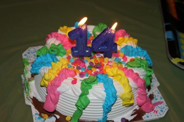 The ice-cream cake Brendan requested!
