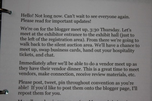 Information and meeting times for my fellow HEAV bloggers.